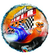 "18"" Turbo Snail Power Checkered Flag Mylar Balloon"
