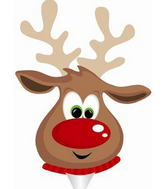 "9"" Airfill Only Rudolph the Reindeer Balloon"