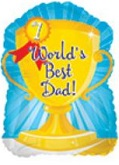 "9"" Airfill World&#39s Best Dad! Trophy"