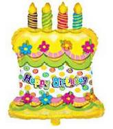 14&#39&#39 Airfill Happy Birthday Cake M110