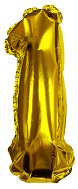 "8"" Gold #1 Shape Self Sealing Valve Foil Balloon"