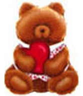 "24"" Teddy Bear Holding Heart 5B378"