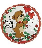 18&#39&#39 I Love You Bear with Roses