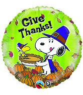 "18"" Peanuts Thanksgiving Balloons"