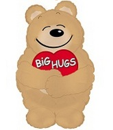 "28"" Big Hugs Bear Mylar Balloon Shape"