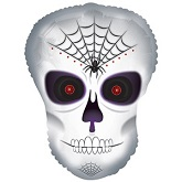 "20"" Spider Skull Dude balloon"