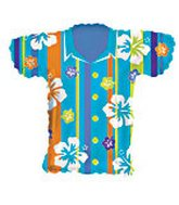 "20"" Blue Hawain Shirt Shape"