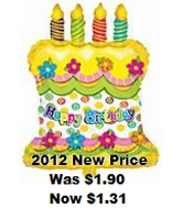 "25"" Happy Birthday Cake Yellow"