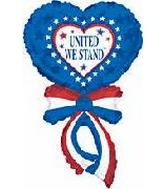 "42"" Jumbo Patriotic Ribbon United We Stand"