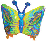 "34"" Fantasy Butterfly Mylar Balloon Packaged"