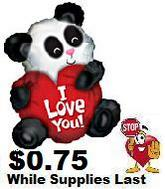 "20"" I Love You Panda Bear Shape"