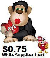 "22"" Love Monkey Big Kiss Shape"