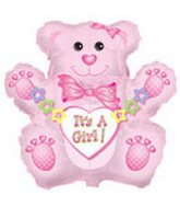 14&#39&#39 Airfill Baby Girl Bear M123