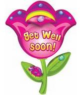 "32"" Get Well Soon Flower B260 Packaged"