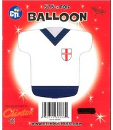 "22"" England Rugby Jersey Shaped Foil Balloon"