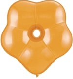 "6"" Geo Blossom Latex Balloons  (100 Count) Mandarin Orange"