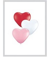 "11"" Heart Latex balloons (100 Count) Sweetheart Assortment"