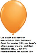 "16""  Prank Latex Balloons Qualatex  ORANGE          50CT"