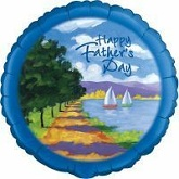 "18"" Happy Father&#39s Day Sailing Balloon"