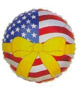 "4"" Airfill American Flag Yellow Ribbon M213"