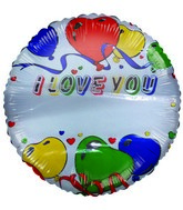 "18"" I Love You Write-a-Name Mylar Balloons"
