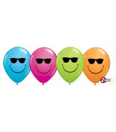 "11"" Special Assorted 50 Count Smile Face Sunglasses"