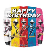 "18"" Power Rangers-Ninja Steel Happy Birthday Balloon"