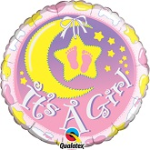 "18"" It&#39s A Girl Nursery Balloon"