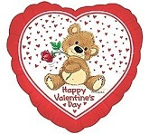 "18"" Happy Valentine&#39s Day Bear Balloon"