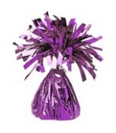 6OZ  Lavender Foil Wrapped Balloon Weight
