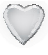 "18"" Silver Heart Shape Balloon"