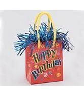 5.5OZ  Red Happy Birthday Balloon Bag Weight