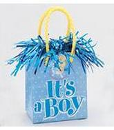 "5.5OZ Blue ""It&#39s a Boy"" Balloon Bag Weight"