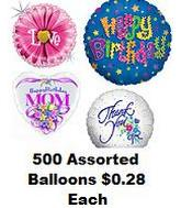 "212 Assorted 18"" Packged Balloons (Clearance)"