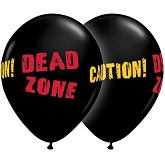"11"" Dead Zone Black Onxy Balloon (50 Count)"