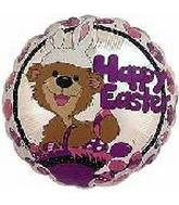 "4"" Airfill Happy Easter w/Bunny EarsBalloon"