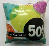 "18"" Life is Great at 50! Foil Balloon"