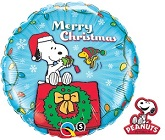 "18"" Snoopy & Woodstock Christmas Balloons"