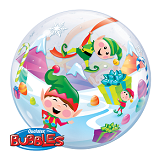 "22"" Merry Elves Bubble Balloons"