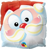 "9"" Airfill Only Santa Fun Face Balloon"