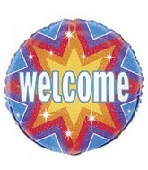 "18"" Welcome Dazzle Balloon"