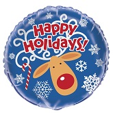 "18"" Happy Holidays Foil Balloon Bulk"