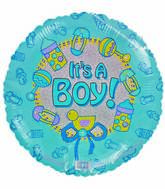 "18"" It&#39s a Boy Baby items Light Blue Balloon"