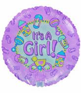 "18"" It&#39s a Girl Baby items Pink Balloon"