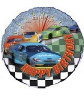 "18"" Stock Car Vehicle Happy Birthday Balloon"