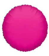 "18"" Hot Pink Round Mylar Balloon"