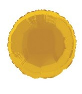 18&#39&#39  Gold Round Mylar Balloon