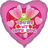 "18"" You&#39re My Love Bug Foil Balloon"
