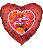 "18"" Together Forever Heart Mylar Balloons"