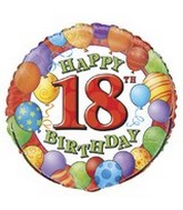 "18"" Happy 18th Birthday Balloons"